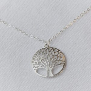 Stay by Tree necklace sliver 16 inch