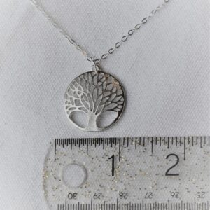 Stay by tree necklace silver 16 in size