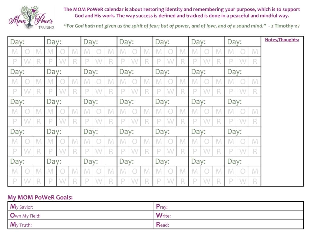 Mom Power Calendar